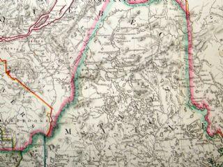 SDUK 1830\'s Map. Lower Canada, New Brunswick, New York, Vermont, Maine